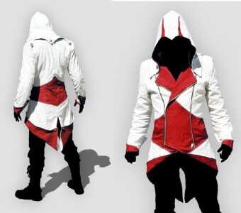 Newest Hoodie Jacket Coat Cosplay Costume-White &Yellow MenSize XL - intl