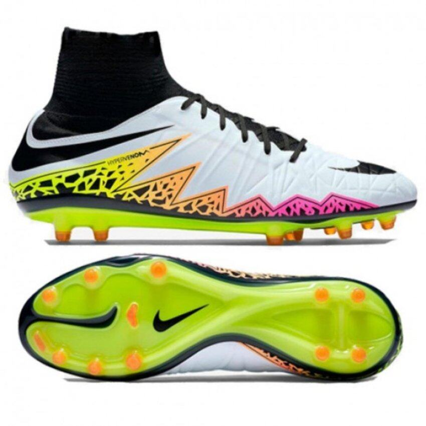 Nike รองเท้าฟุตบอล Hypervenom หุ้มข้อ ของแท้ NIKE HYPERVENOM PHATAL II DF FG