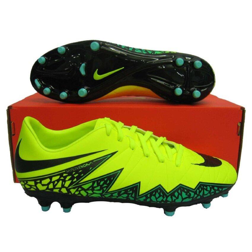 นำเสนอ Nike รองเท้าฟุตบอล รองเท้าสตั๊ด NIKE 749896-703 HYPERVENOM PHELON II FG เขียวตอง เบอร์ US 7(Int: One size)