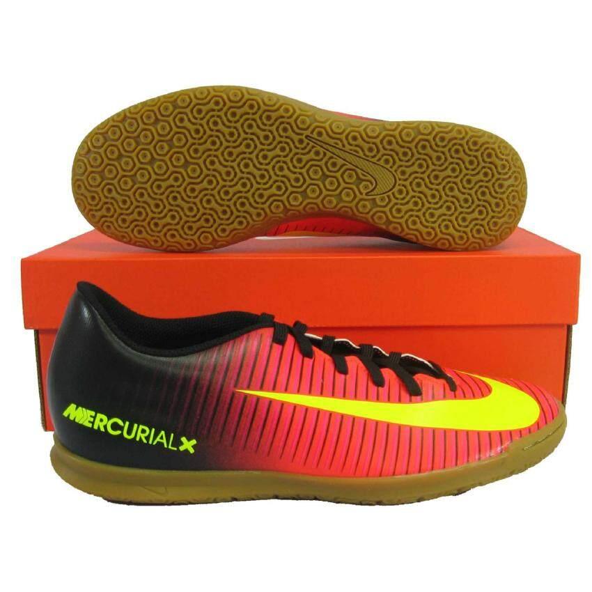 ขายดี Nike รองเท้ากีฬา รองเท้าฟุตซอล NIKE 831970-870 MERCURIALX VOTEX III IC ดำชมพู