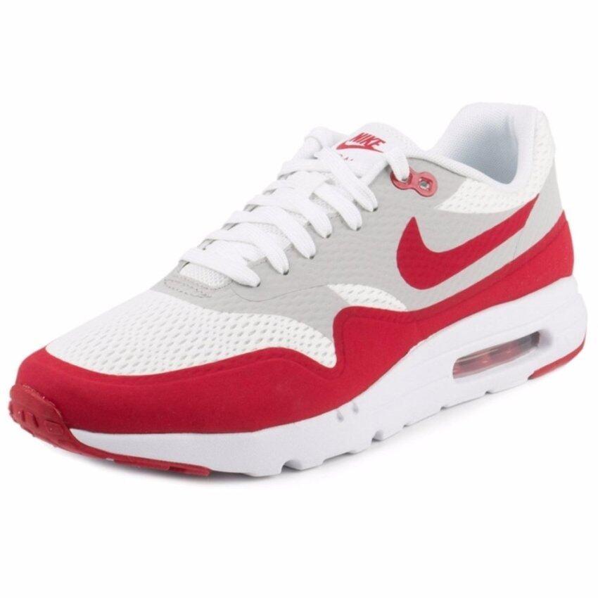 เปรียบเทียบราคา Nike รองเท้าแฟชั่นผู้ชาย Nike Air Max 1 Ultra Essential 819476-106 (White/Varsity Red/Neutral Grey/White)