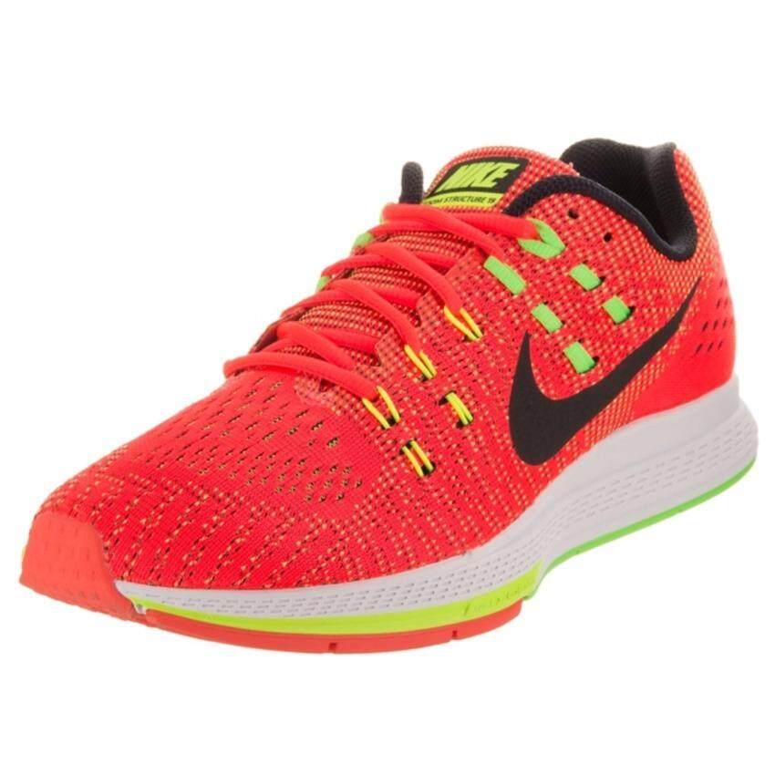 ขายดี Nike รองเท้าวิ่งผู้ชาย Nike Air Zoom Structure 19 806580-607 (Bright Crimson/Black/Volt/Voltage Green)