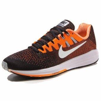 2561 Nike รองเท้าวิ่งผู้ชาย Nike Air Zoom Structure 20 849576-002 (Black/Total Orange/Wolf Grey/White)