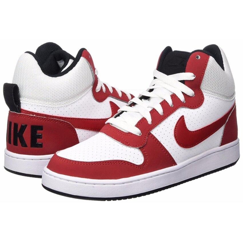 Nike (โปรดเทียบไซด์รองเท้า ตามตาราง) รองเท้าฟิตเนส รองเท้าลำลอง รองเท้าวิ่ง รองเท้าเที่ยว รองเท้าบาส รองเท้าวอลเล่ รุ่น Nike Court Borough Mid