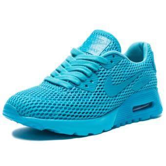 ประเทศไทย Nike รองเท้าแฟชั่นผู้หญิง Nike Women's Air Max 90 Ultra BR 725061-401 (Gamma Blue)