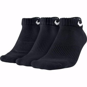 ซื้อ/ขาย Nike Socks ถุงเท้าบาส ถุงเท้าบอล ถุงเท้าหนา สำหรับใส่เล่นกีฬา สำหรับลำลอง แพ็ค 3 คู่ Nike SX4701-001 3PPK Cushion Low Cut Socks