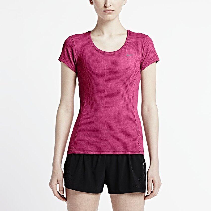 NIKE เสื้อวิ่ง ไนกี้ Women Run Shirt Dri-Fit Contour 644695-616 (1600)