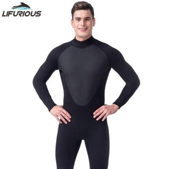 Ocean Men Wetsuits Outdoor 3 mm Super elastic ComfortableWear-resisting Keep warm Diving suit(Black) - intl