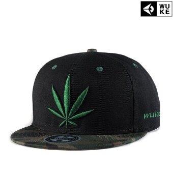 2e64c998796 Ocean New Fashion Men Hats Reggae Hip hop Hemp leaf CanvasEmbroidery Flat  edge cap Baseball cap