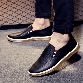 OJ Men's business casual shoes are used in English pu shoes - intl - 3