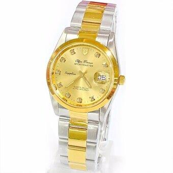 2561 O.P (Olym Pianus) นาฬิกาผู้ชาย SPORTMASTER สายสแตนเลส พลอย 11 เม็ด รุ่น 8934M-616