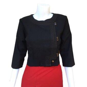 Orawan Closet เสื้อผ้าฝ้ายพื้นเมือง ลายอองชาน (สีดำ)