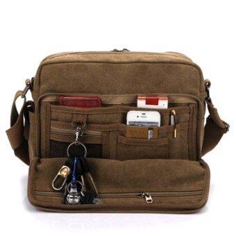 กระเป๋าสะพายข้างผู้ชาย ผ้า CANVAS รุ่น NB700 ( สีน้ำตาล )