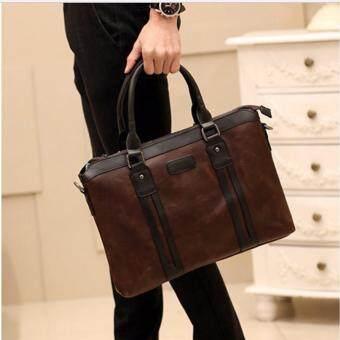 รีวิว กระเป๋าสะพายไหล่ผู้ชายหรือถือ รุ่น NE155 (สีกาแฟ)