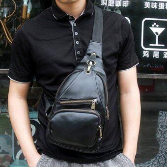 ต้องการขาย กระเป๋าสะพายไหล่ คาดอกผู้ชาย หนังPU รุ่น KA02 (สีดำ)