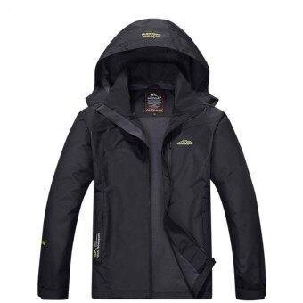 Outdoor Sport Jacket STL เสื้อแจ็คเก๊ต กีฬา กันน้ำ สำหรับท่องเที่ยว เดินป่า camping สำหรับผู้ชาย รุ่น S15 (สีดำ)