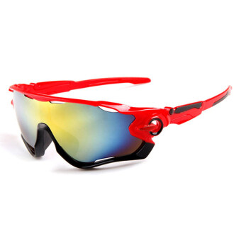Outdoor sport sunglasses Men&Women colorful lenses Fashionsunglasses (Red) - intl