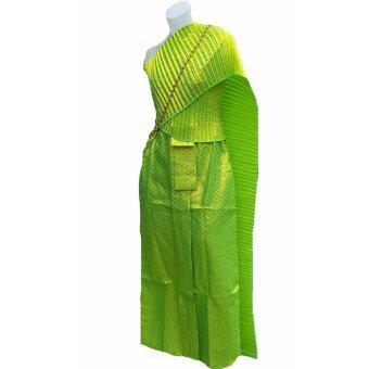 ชุดไทย ชุดสไบ สีเขียว ชุดรำไทย รำถวายพระพร ชุดงานลอยกระทงพร้อมสร้อยสังวาลย์ ชุดไทยแก้บน Outfit Party งานแฟนซี ชุดแฟนซีผ้าถุงสำเร็จรูป ชุดไทยสำเร็จรูป ขายดี