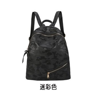 เกาหลีผ้า Oxford หญิงวรรคเดียวกันกระเป๋าสะพายกระเป๋านักเรียน (สีดำอำพราง)