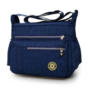 สบายๆไนลอนความจุขนาดใหญ่กระเป๋าเดินทางกระเป๋าผ้า Oxford กระเป๋า (หนองแซงสีฟ้า)