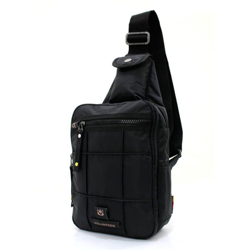 PACK UP  VOLUNTEER กระเป๋าคาดอก รุ่น 1590-10 - สีดำ