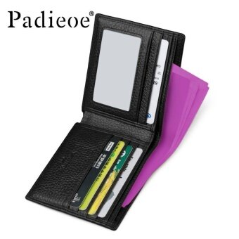 ... Padieoe Good Quality Men Wallet Business Men's Short Purse 100%Genuine Cow Leather Wallets Card ...