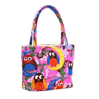 Harga PAlight Women Canvas Printed Beach Handbag (Intl)