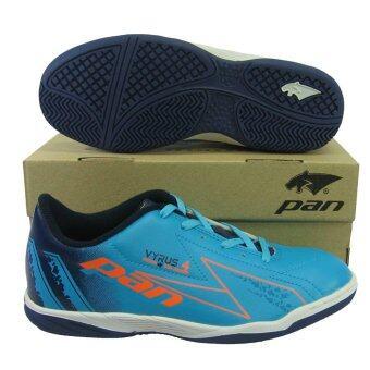 รองเท้ากีฬา รองเท้าฟุตซอลเด็ก PAN 14J6 VYRUS 4 JR ฟ้าส้ม