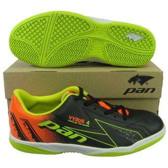 รองเท้ากีฬา รองเท้าฟุตซอลเด็ก PAN 14J6 VYRUS 4 JR ดำเขียว