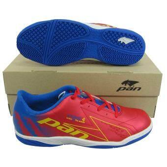 รองเท้ากีฬา รองเท้าฟุตซอล PAN 14K6 VYRUS 4 แดงน้ำเงิน