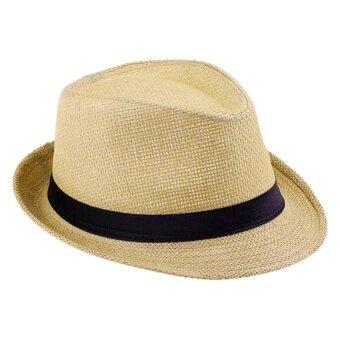 Panama Classic Hat หมวกปานามา - สีน้ำตาลอ่อน