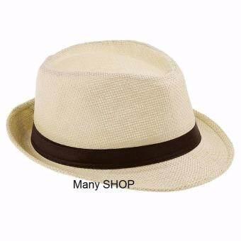 Panama Classic Hat หมวกปานามา ทรงไมเคิล (สีน้ำตาลอ่อน)