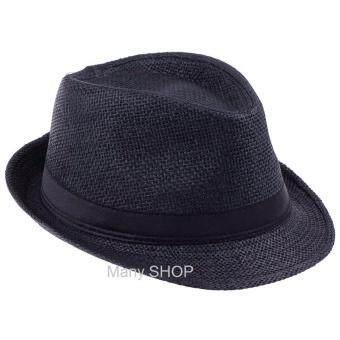 Panama Classic Hat หมวกปานามา ทรงไมเคิล สีดำ