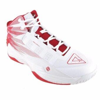 ราคา PEAK รองเท้า บาสเกตบอล เอ็นบีเอ NBA Basketball shoes พีค รุ่น E62003A - White/Red