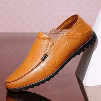 ป่าในช่วงฤดูร้อนใหม่ขี้เกียจรองเท้า Peas รองเท้า (ชายรุ่น + 2070 สีเหลืองสีน้ำตาล (ขนาดรองเท้ามาตรฐาน))