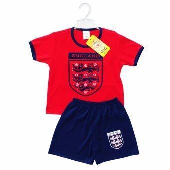 Periquita ไซส์ 1-6 ปี เซ็ต 2 ชิ้น ชุดกีฬาเด็ก ชุดฟุตบอลเด็กทีมชาติอังกฤษ สีแดง