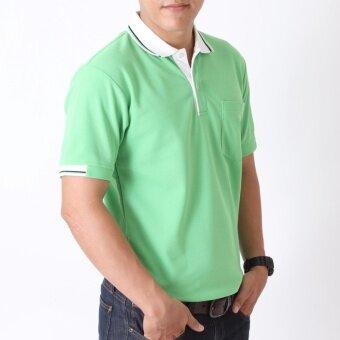POLOMAKER เสื้อโปโล KanekoTK PK082 สีเขียวอ่อน (Male) - 3
