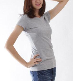 POLOMAKER เสื้อยืด MicroBrush TM15 สีเทาท๊อปดราย (Female) - 2