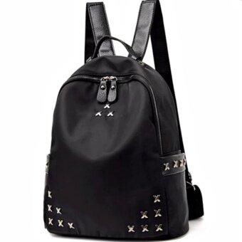 กระเป๋าสะพายหลัง กระเป๋าเป้ กระเป๋าแฟชั่นผู้หญิง รุ่น pp-01 (สีดำ)