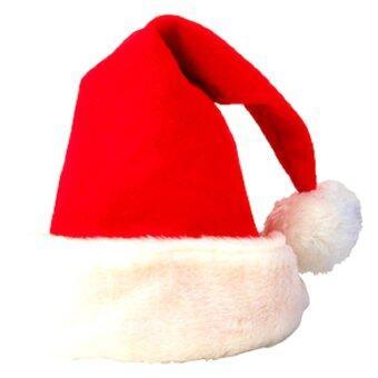 หมวกซานตาครอส สำหรับคริสมาส ผ้ากำมะหยี่