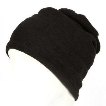 บ้านไอร์กลางแจ้ง ผ้าพันคออุ่นอุ่นหนาวหัวหมวกคลุมหน้ากากใบหน้าคอสีดำ