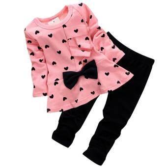 สาวธนูเงื่อนหัวใจดอทคอมเสื้อเชิร์ต และกางเกงพีซีสีชมพู