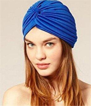 ผ้าคลุมศีรษะสไตล์อินเดียมุสลิมอินเดียหมวกหมวกหมวกหมวกหมวก ( สีฟ้า )หู