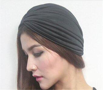 หมวกชาวมุสลิมอินเทรนด์หมวกหมวกหมวกหมวกหมวกกันน็อกหมวกหู (สีดำ)