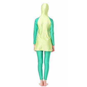 ชุดว่ายน้ำชุดว่ายน้ำมุสลิมชุดว่ายน้ำใหม่ชุดว่ายน้ำสีเขียว