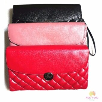 กระเป๋าแฟชั่นกระเป๋าถือ(สีดำ) กระเป๋าสะพายข้าง สวยเก๋ในแบบสาวเกาหลี - 2