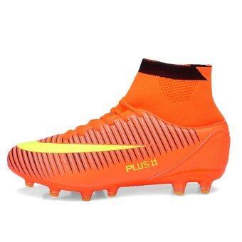 ฟุตบอลชายฟุตบอลอาชีพรองเท้ากีฬารองเท้าสูงรองเท้าตะปูซ้อมส้ม (image 3)