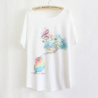 เสื้อค้างคาวใหม่ในช่วงฤดูร้อนญี่ปุ่นและเกาหลีใต้เพลง (สีขาว)