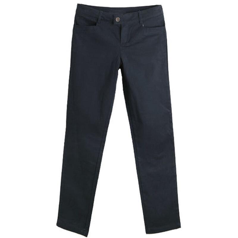 เวอร์ชั่นเกาหลีของผู้หญิงใหม่กางเกงเก้าแต้มสบายๆกางเกงขายาวกางเกงขายาว (สีน้ำเงินเข้ม) (สีน้ำเงินเข้ม)