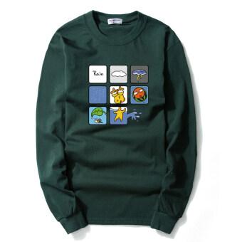 product 1507289576 95633415 653e9f1409a741e5131fc371a864a52f product ที่ขายถูกที่สุด แนวโน้มฤดูใบไม้ร่วงใหม่เพื่อเพิ่มแขนยาวเสื้อเชิ้ตเสื้อยืด  ขนาดเล็กแปดบล็อกสีเขียวเข้ม